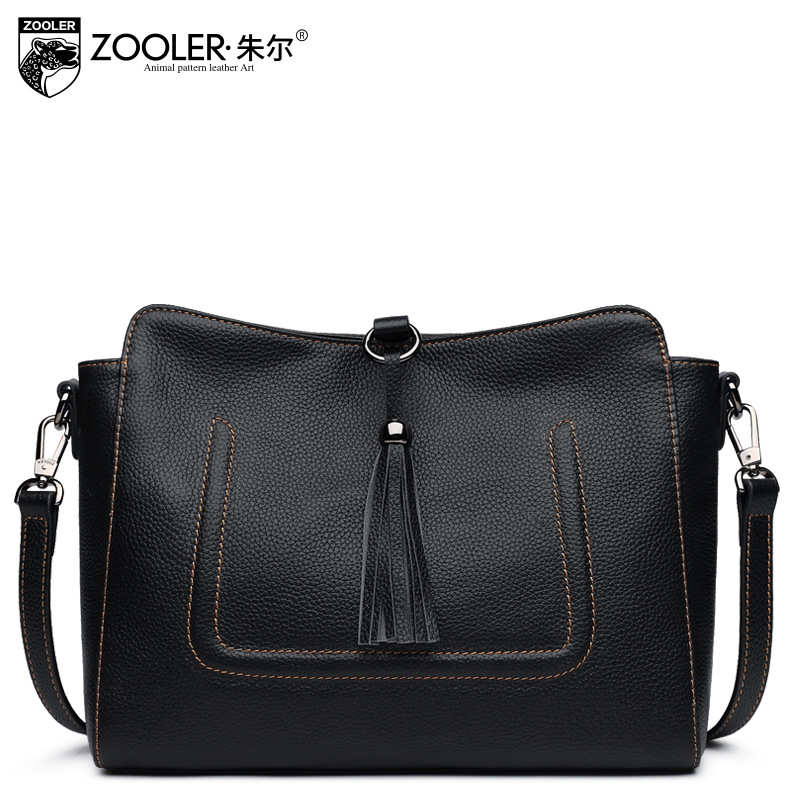 ZOOLER Women Genuine Leather Shoulder Bags Fashion Leisure Cowhide All Match Small Messenger Bag Ladies Casual Bolsa Feminina new style fashion genuine leather women bag retro cow leather small shoulder bags top grade all match mini women crossbody bag