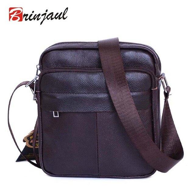 Genuine Leather Men Shoulder Bags New Fashion Hot Male Handbag Small  Crossbody Messenger Bag Travel Bolsa aaf80498af3ab