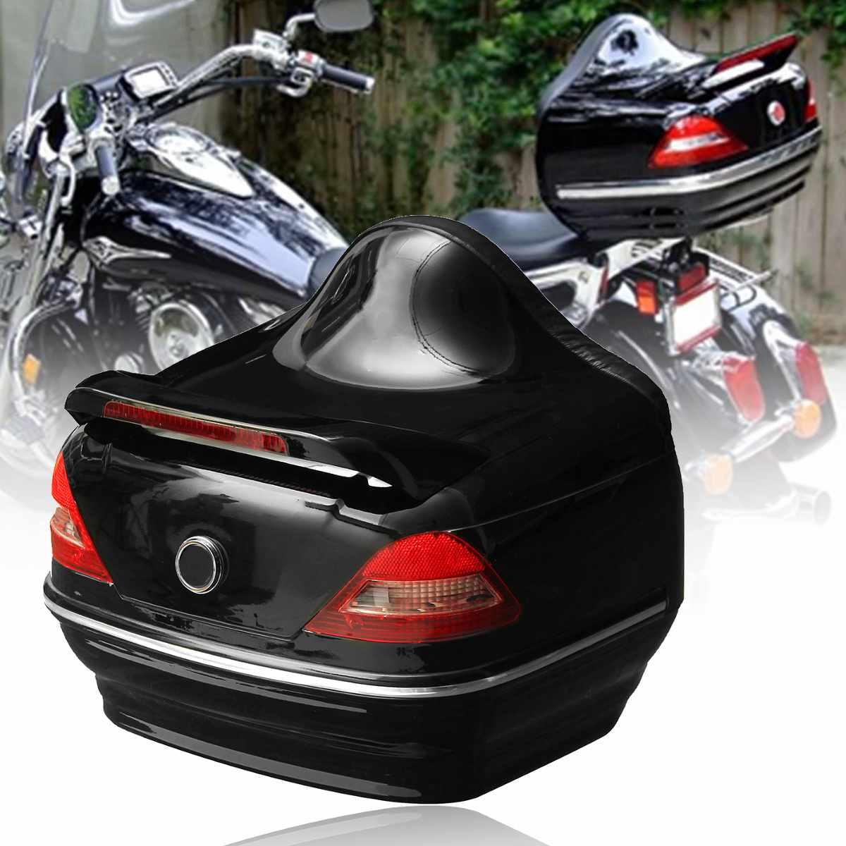 Black Motorcycle Trunk Tail Box W/Taillight For Harley /Honda /Yamaha /Suzuki Vulcan Cruiser black motorcycle trunk tail box w taillight for harley honda yamaha suzuki vulcan cruiser