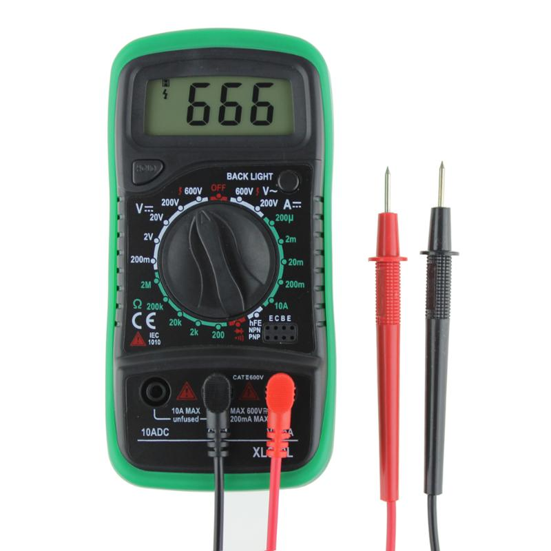 XL830L Digital Multimeter Voltmeter Ammeter OHM Volt Tester LCD Test Current Meter Overload Protection Multimeter AC DC цены