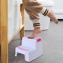 Горячая 2 шаг табурет Малыш Дети табурет туалет горшок Обучение скольжению для ванной комнаты кухня-падение