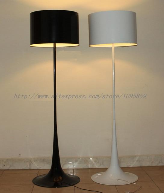 Modern tulip gentleman floor lamps lights black white aluminum bedroom bedside standard lighting
