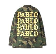 Kanye camouflage jacke trend der männer jacke frühling baseball clothing für männer und frauen