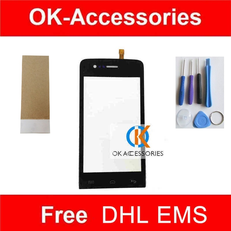 For Wiko Fizz Touch Screen Digitizer Black Color 1PC/Lot With Tools & Adhesive Tape