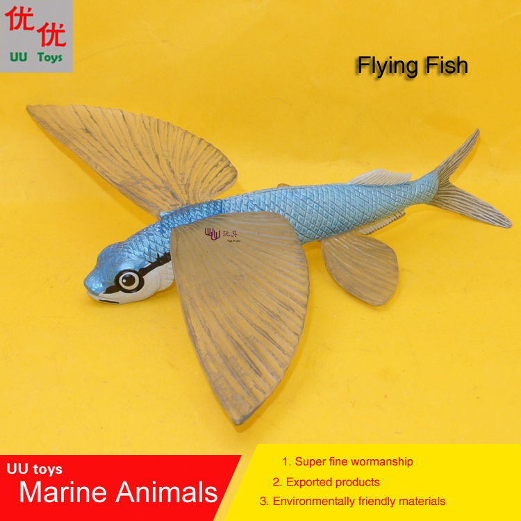 Hot toys Flying Fish Simulation model Marine Animals Sea Animal kids gift educational props Action Figures easyway sea life gray shark great white shark simulation animal model action figures toys educational collection gift for kids