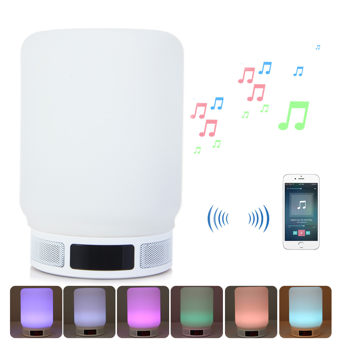 100% QualitäT Mesuvida Beweglicher Drahtloser Bluetooth Lautsprecher Wunderlampe Led Bunte Lcd Zeitanzeige Handfree App Steuer Tf-karte Wecker