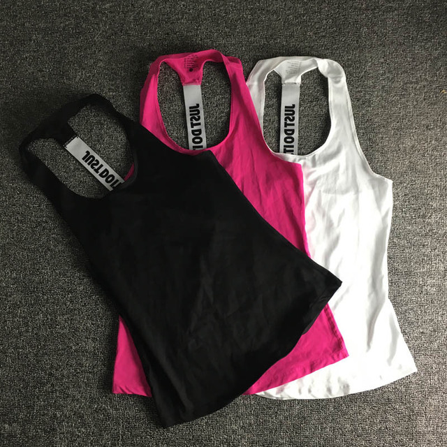Women Sleeveless Fitness Vest  Exercise Workout Sports T-Shirts Fitness Running Sport Vest Yoga top Gym Clothing T-Shirt 5