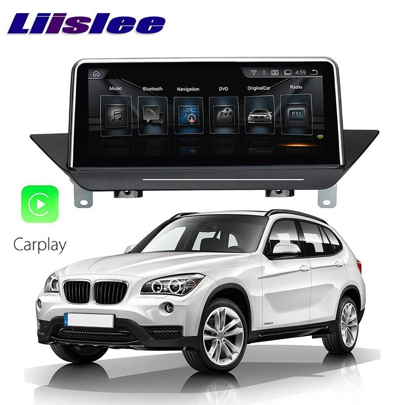 цена на LiisLee Car Multimedia GPS Audio Hi-Fi Radio Stereo For BMW X1 E84 2009~2015 Original CIC Style Navigation NAVI