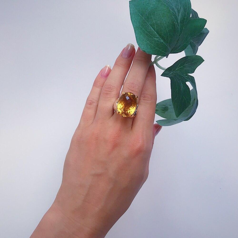 WA11717 crown look big zircon rings for women cushion cut (9)