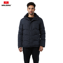 MALIDINU 2019 Men Down Jacket Hooded Winter Duck Down Coat 70%White Duck Down Winter Jackets Brand Male Parka Russian Size -30C new winter outdoor trekking white duck down jacket men hooded outwear duck down coat breathable hiking camping sports jackets