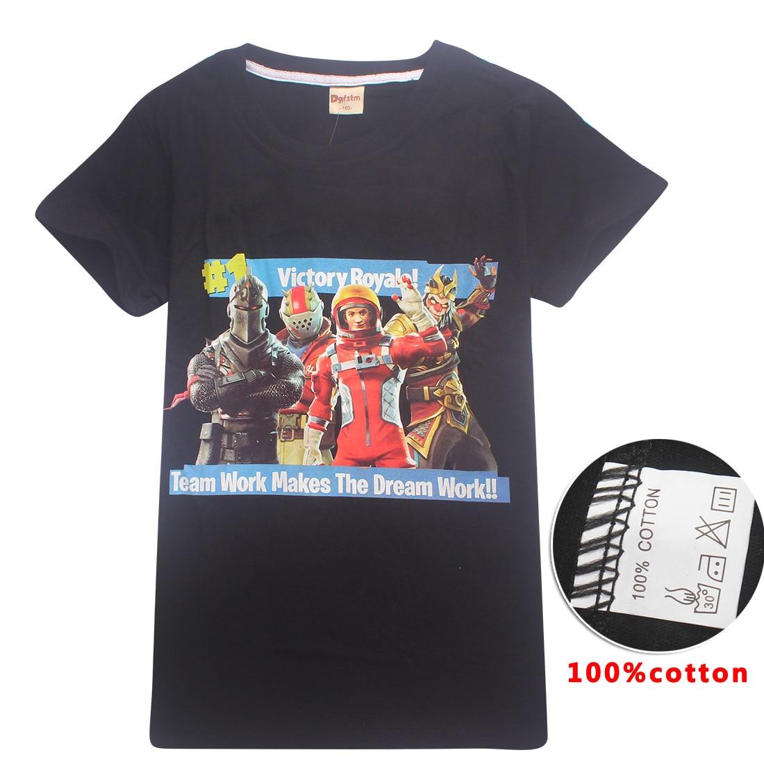 Hot Game Fortnite Shirt Kids Tops Summer Short Sleeve T Shirt Girls T-shirts Girls Boys Casual Tees 6-14Y Childrens Clothing
