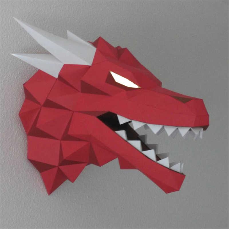 Jogo de thrones 3d cabeças de dragão vermelho, casa targaryen stark modelos adultos presente infantil decoração de parede brinquedos, brinquedos