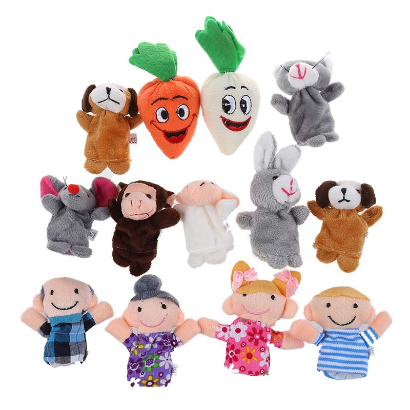 Baby Kids Educational toy Finger Puppet plush toys boy girl