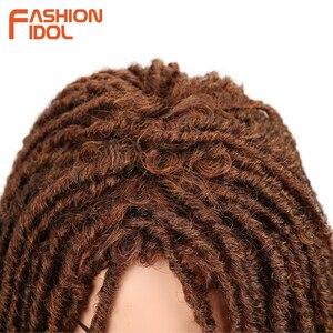 Image 5 - Модные IDOL 22 дюйма синтетические парики для черных женщин крючком косы Twist Jumbo Dread искусственные локс Прическа Длинные афро коричневые волосы