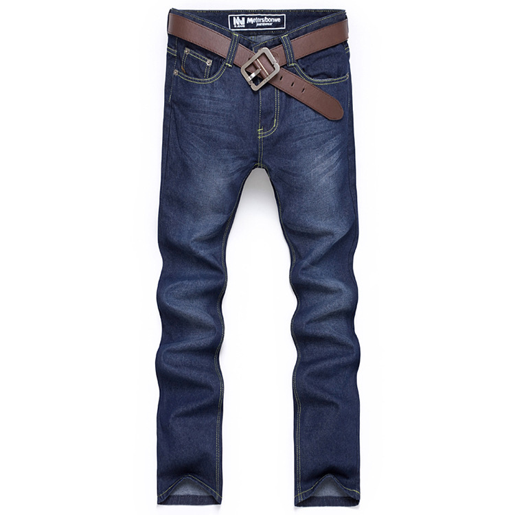 Men s jeans child jeans male straight Slim waist trousers