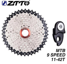 ZTTO MTB Bicycle Freewheel 9 Speed 11- 42T Cassette Mountain Bike Parts WIDE RATIO Compatible For M430 M4000