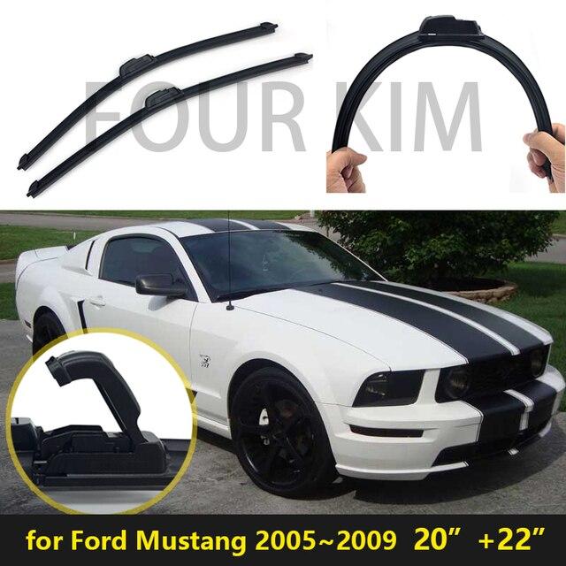 Para Ford Mustang 2005 ~ 2009 Universal limpiaparabrisas Coche ...