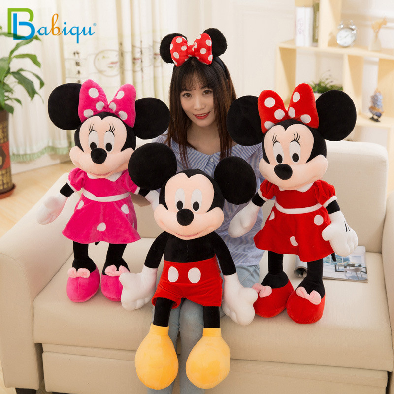 2pcs/lot 40cm Lovely Mickey Mouse and Minnie Mouse Plush Cartoon Figure Toys Stuffed Dolls Kids Girl Christmas Birthday Gift стоимость