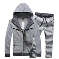 New arrival Leisure Suit Men Casual slim mens hoodies sweatshirts Set M-XXL