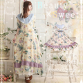 2016 Summer women's Forest Girl Style Floral Pattern Special Design one-piece Dress Japanese Lolita Mori Girl Dresses T003