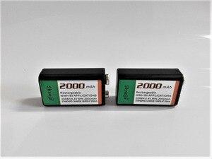 Image 2 - 4pcs 9v 슈퍼 큰 2000 mah nimh 배터리 충전식 9 볼트 배터리 + 범용 9v aa aaa 배터리 충전기