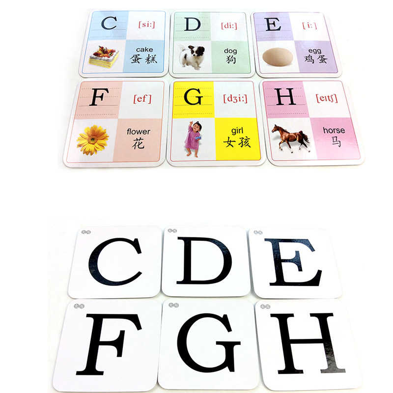 Detail Feedback Questions about 48PCS Learn English Alphabet Card