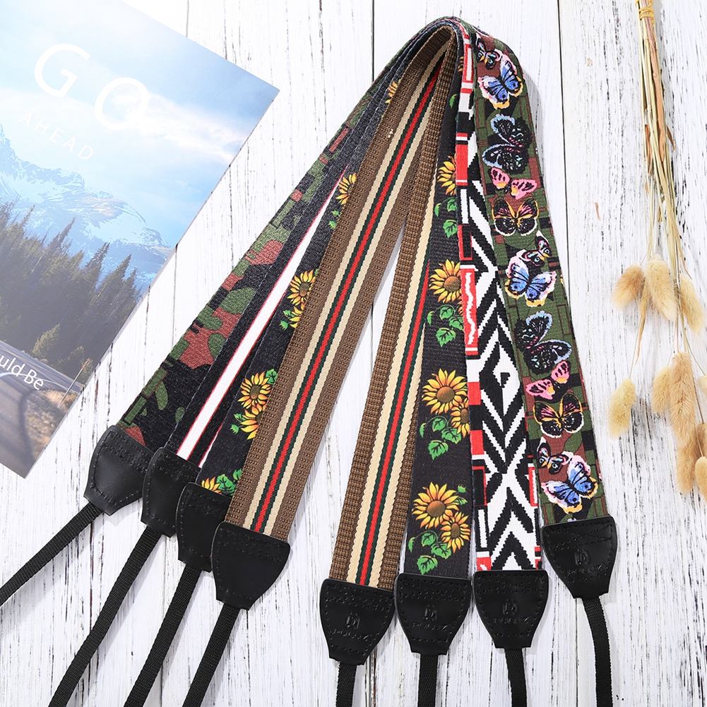 PULUZ Retro Ethnic Style Multi-color Series Shoulder Neck Strap Camera Strap Belt For Sony ,Canon ,SLR / DSLR Cameras Universal