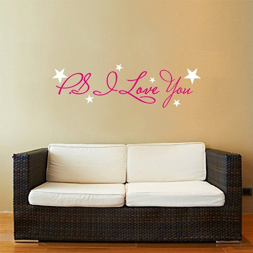 PS I Love you Wall Art Quote Lettering Decals