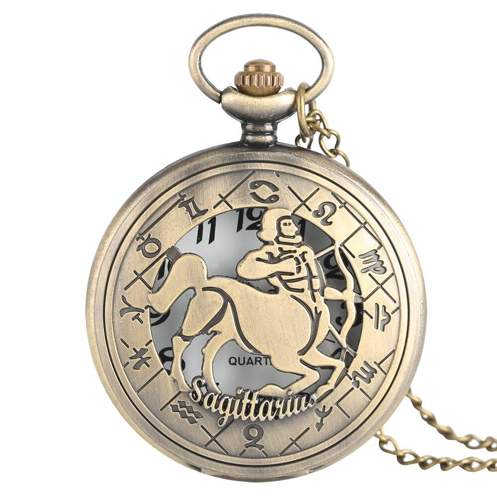 Charm Zodiac Freedom Sagittarius Pendant Necklace Gifts Friend Mens Womens Ladies Quarzt Nurse Pocket Watches Montre Infirmiere