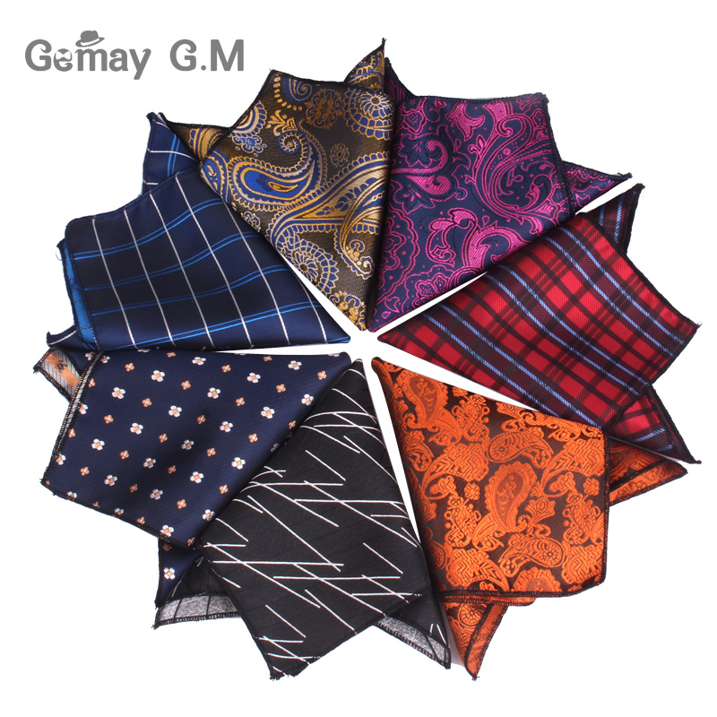 Men Floral Jacquard Pocket Square For Gift Wedding Vintage Hankies For Pocket Towel Handkerchief Suits Chest Towel 24 X 24 Cm