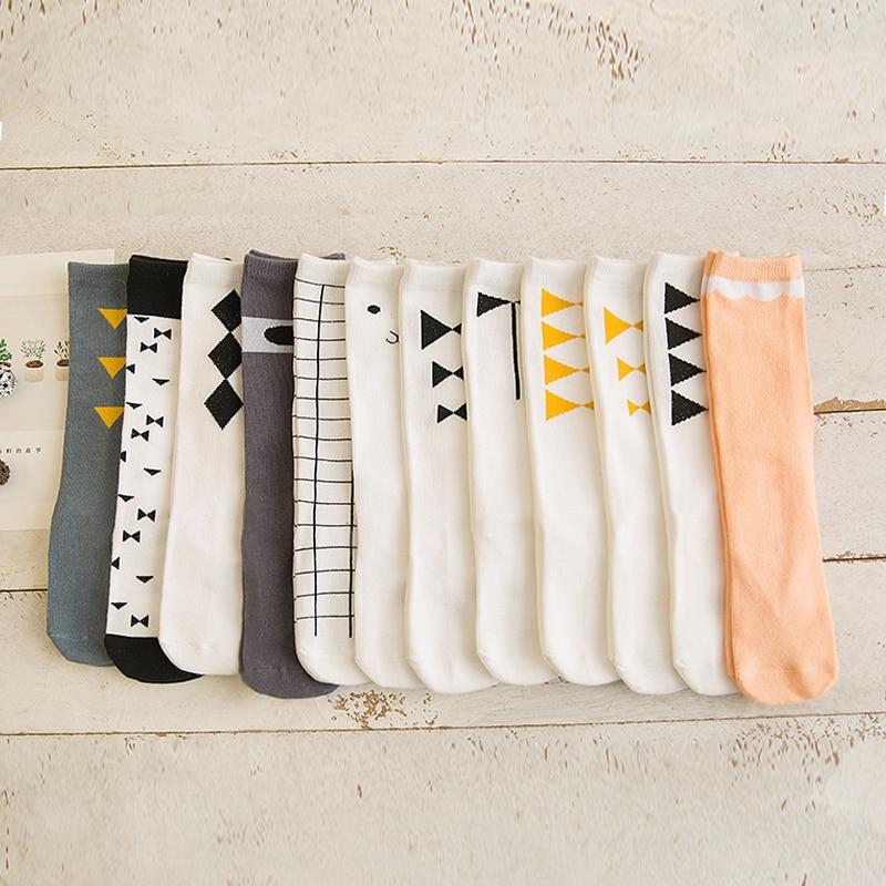 0-6y 2016 new baby cotton socks kids boy and girl knee high Cotton Socks children leg warmer bow C795