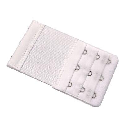 5 шт., расширители для бюстгальтера, удлинение пряжки, 3 крючка, 1, 2, 3, 4, 5 крючков, расширитель для бюстгальтера, инструмент для шитья, аксессуары для женщин - Цвет: White 3 buckle