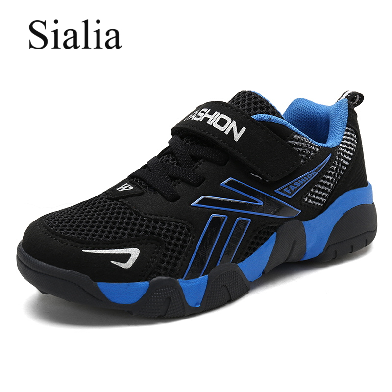 Sialia Spring Autumn Children Sneakers For Boys Casual Shoes Kids Girls Sneakers Mesh Patchwork Outdoor Tenis Zapatillas Nino
