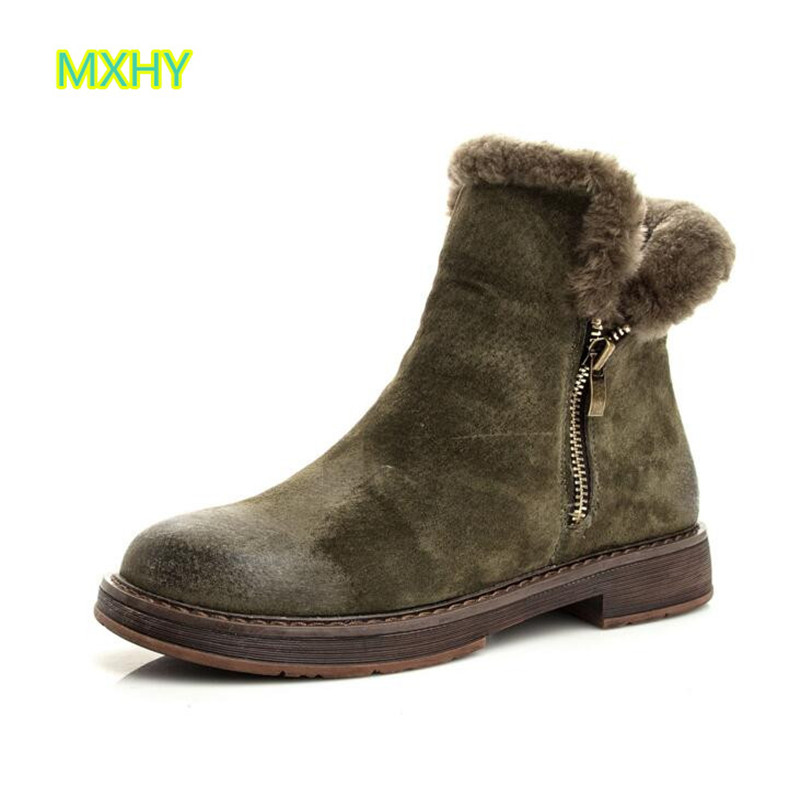 MXHY large size big Children Student snow boots Female fur Bare boots women Genuine Leather fashion boots thickening warm shoesMXHY large size big Children Student snow boots Female fur Bare boots women Genuine Leather fashion boots thickening warm shoes