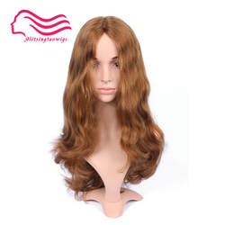 На заказ 22 дюймов блондинка парик Кошерный, еврейский парик Бесплатная доставка