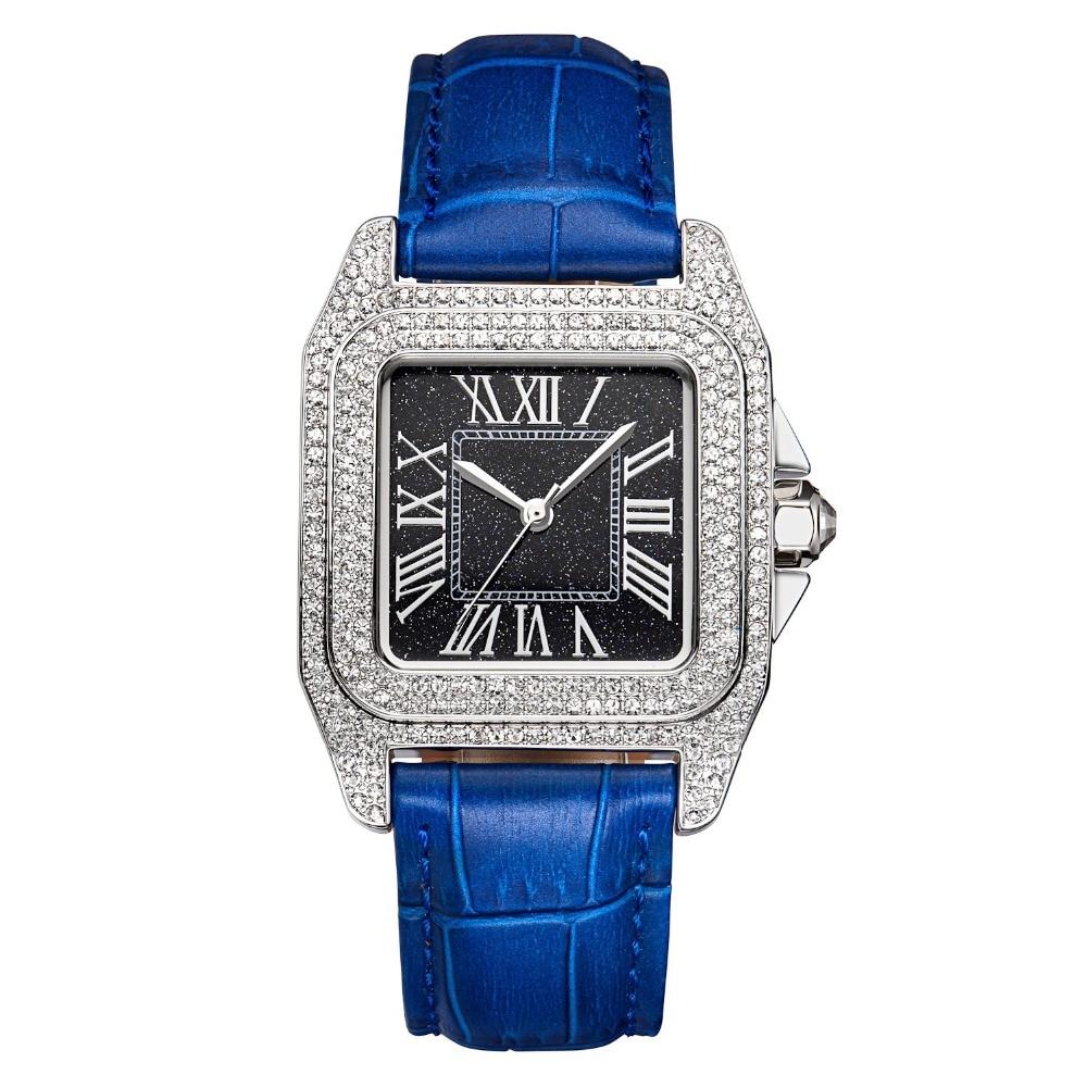 MATISSE Fashion Austria Crystal Bezel Leather Strap Buiness Women Lady Quartz Watch Wristwatch jubaoli rotatable bezel male watch quartz leather strap wristwatch