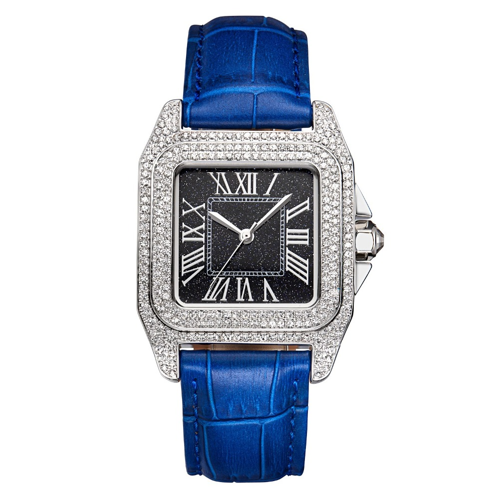 MATISSE Fashion Austria Crystal Bezel Leather Strap Buiness font b Women b font Lady Quartz Watch