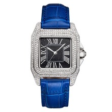MATISSE Fashion Austria Crystal Bezel Leather Strap Buiness Women Lady Quartz Watch Wristwatch
