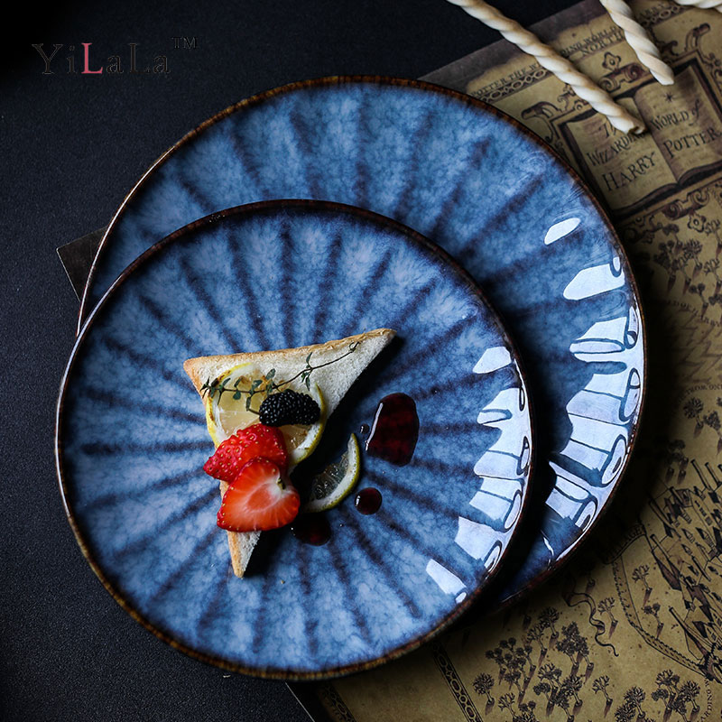 Yilala Ceramic Plate Dish Porcelain Dinner Dishes 8 Inch
