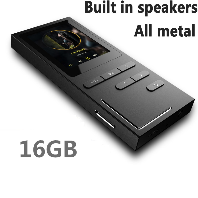 2017 HIFI MP3 Player 16GB Lossless Music Player with Speaker 50 Hours Playback Voice Recorder / FM Radio Expandable Up to 64GB 2016 new style mini mp3 player sport hifi lossless music player 16gb hot sales for mobile phone pc tablet