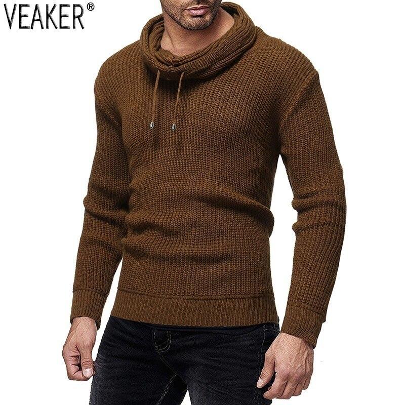 Pullover Knitwear Sweater Turtleneck Slim-Fit Long-Sleeve Male Men's Autumn New Solid