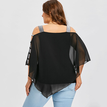 Women's Plus Size Ladder Hollow Out Blouse