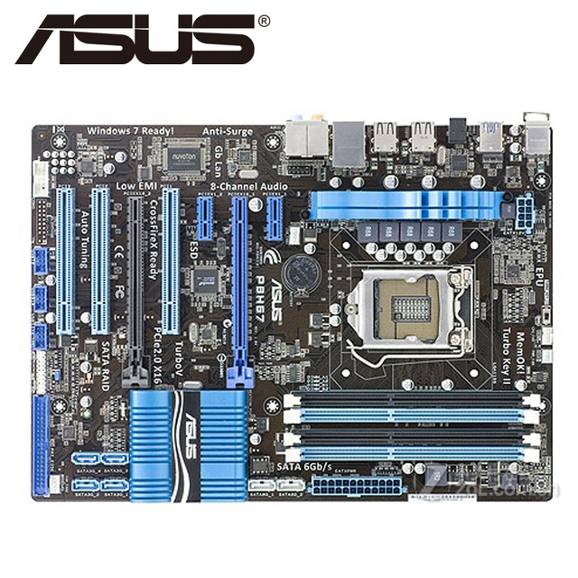 Free shipping original motherboard for ASUS P8H67 DDR3 LGA 1155 for I3 I5 I7 CPU USB2.0 USB3.0 32GB H67 Desktop Motherboard