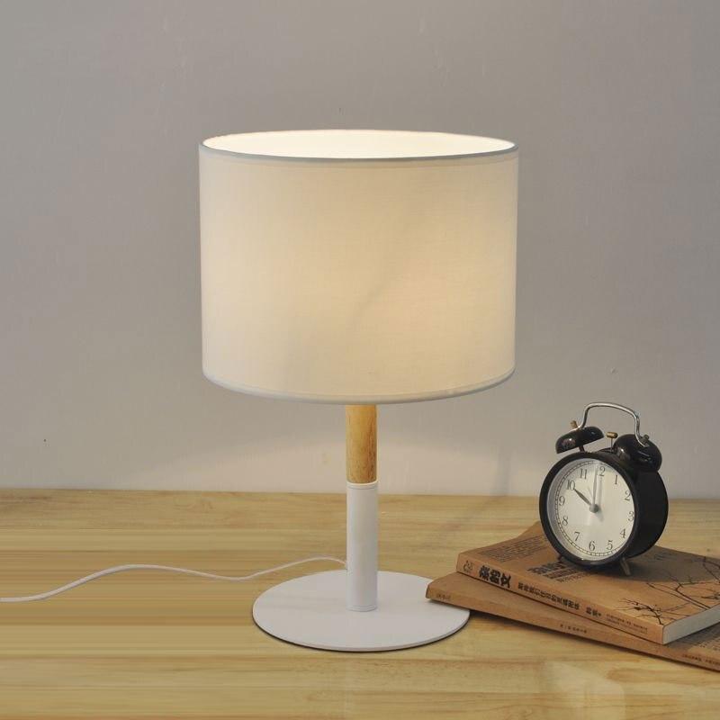 Роман деревянный стол лампы 400 мм современный промышленный светильник деревянные настольные лампы для чтения Стиль Настольные светильники...