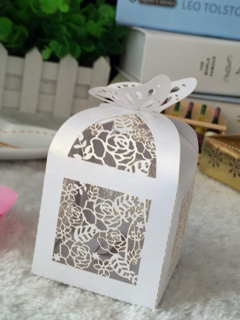 100pcs Wedding Party Favor Bo Erfly Diy Candy Cookie Gift Packaging For