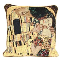 Cushion Cover pillow Gold Double Jacquard Knitting Weave Throw Pillow Covers Case Gustav Klimt Kiss Tree of life
