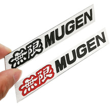 3D Aluminum Mugen Emblem Chrome Logo Rear Badge Car Trunk Sticker Car Styling for Honda