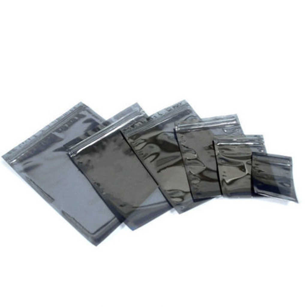100Pcs/Lot Antistatic Translucent Storage Bag Zip Lock Resealable Anti Static Pouch For Electronic Accessories Package ESD Bags
