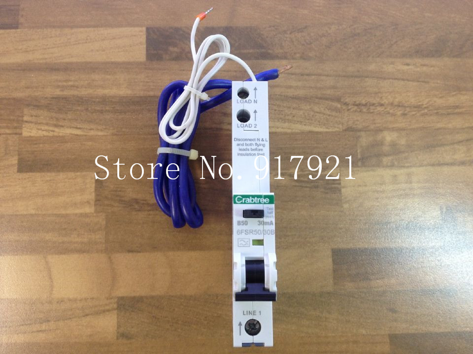 ФОТО [ZOB] Imported Crabtree 6FSR50/30B leakage protector compact leakage protection switch 1P50A 30MA  --2PCS/LOT