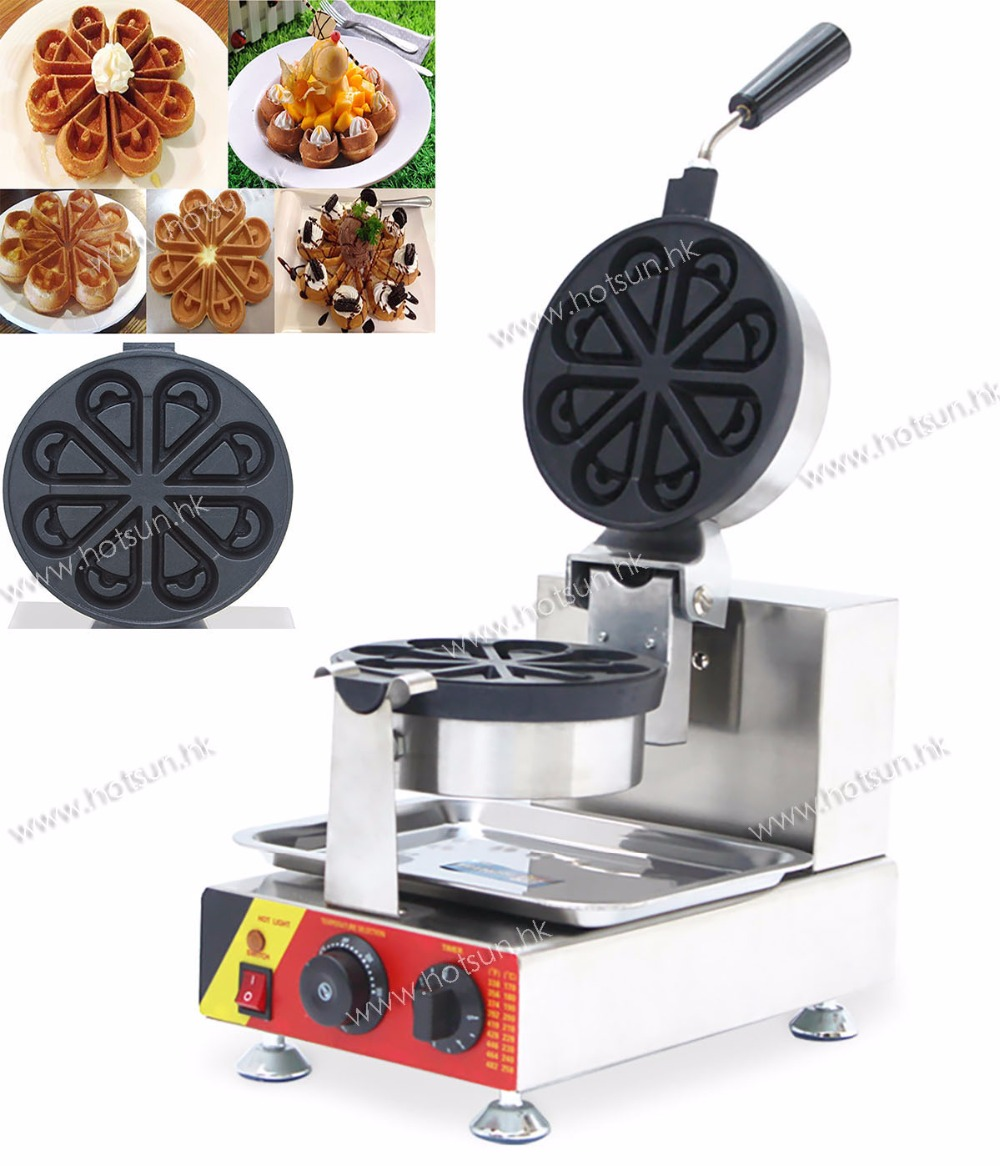 Free shipping 110 or 220V rotate water shape stroopelwaffler Commercial water waffle machine Waffle Iron waffle